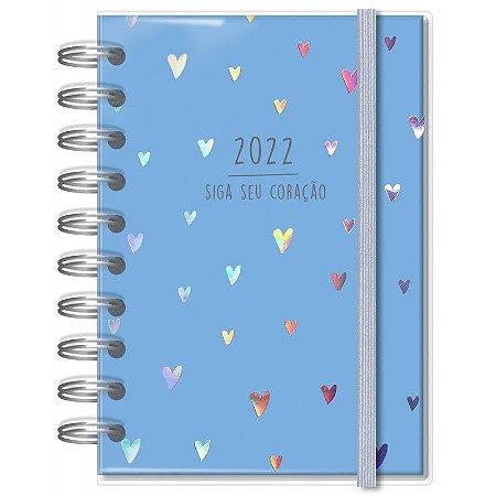 Agenda P Corações Azul Fina Ideia
