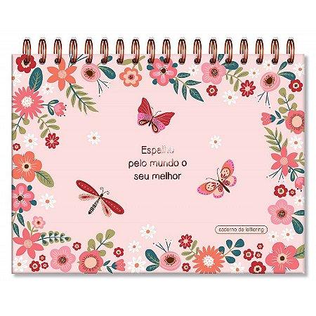 Caderno Lettering Borboletas Fina Ideia