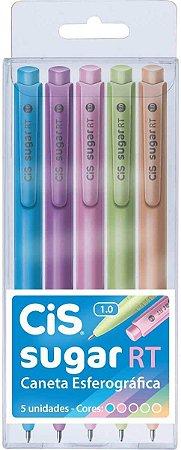 Caneta Retrátil CIS Sugar RT1.0mm 5 Cores