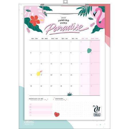 Calendário Planner Prancheta 21 X 29,7 Cm Capricho 2021