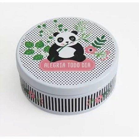 Lata Redonda Panda com notas