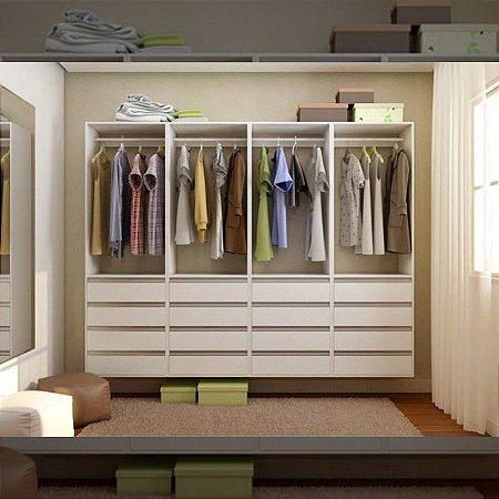 Closet Completo (08) com Cabideiro e Gavetas