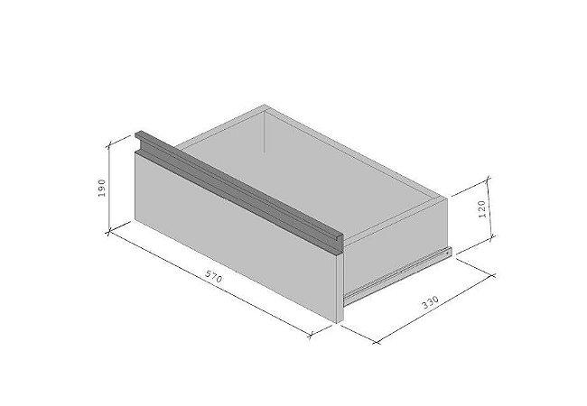 Gaveta - Com Corrediça Para Módulo em MDF - Supercloset