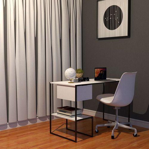 Mesa Para Notebook Home Office Branco Tubular