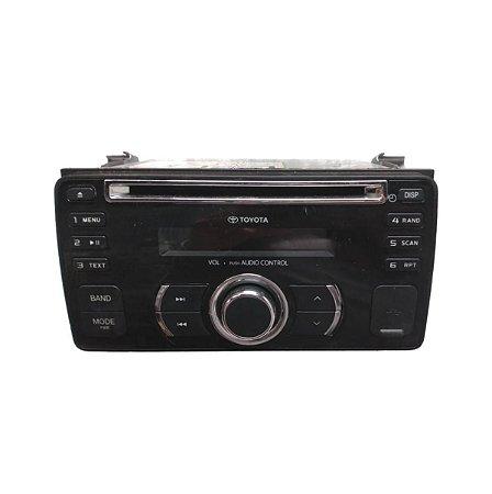 Rádio Som CD Toyota Etios Cross 2013/2014 86120YY240A