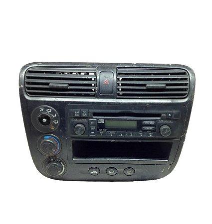 Rádio Cd Player Honda Civic 02/2004 completo 39101S5AA520M2