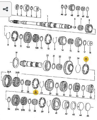 ANEL SINCRONIZADOR 1/2 MARCHA VW GOLF  012311247F