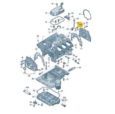 Retentor Traseiro Audi A6 2.7 Passat 2.8 078103171l