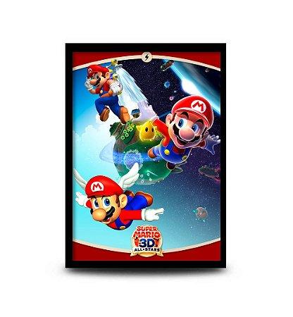 Quadro Super Mario 3D All-Stars Versão 2 - 32,5 x 43cm