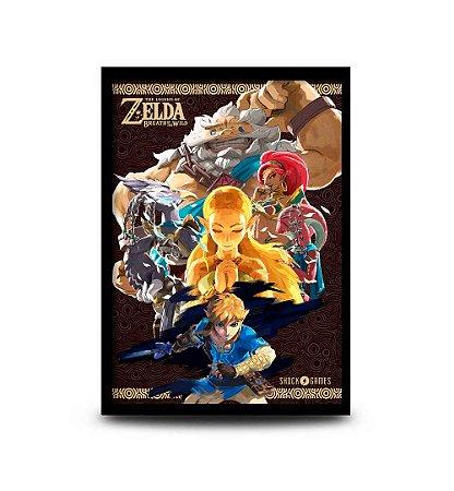 Quadro The Legend of Zelda: Breath of the Wild Champions Versão 2 - 32,5 x 43cm