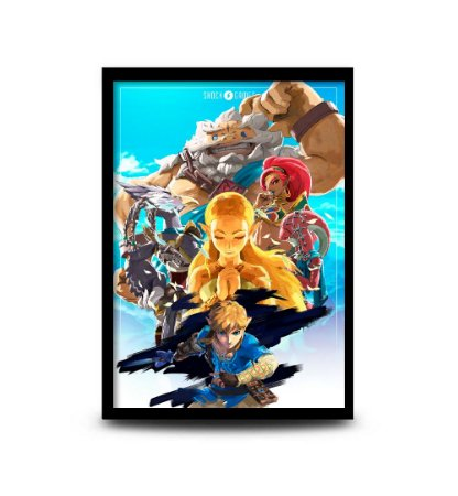 Quadro The Legend of Zelda: Breath of the Wild Champions - 32,5 x 43cm