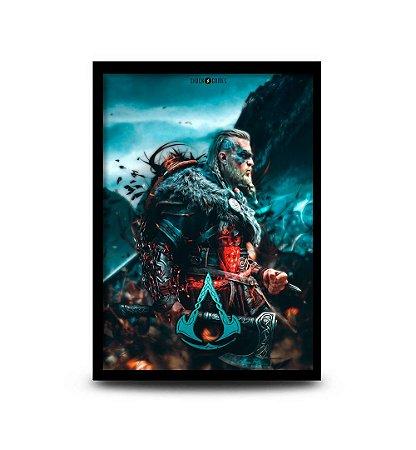 Quadro Asassin's Creed Valhalla - 32,5 x 43cm