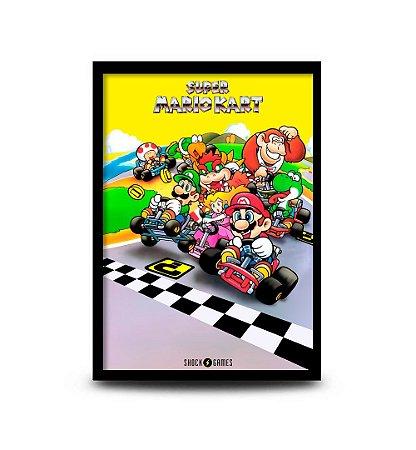 Quadro Super Mario Kart - 32,5 x 43cm
