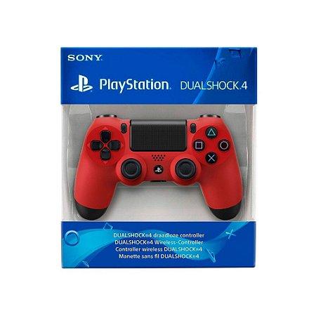Controle Dualshock 4 1ª Linha - Vermelho - PS4