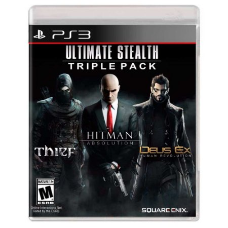 Pacote Ultimate Stealth Triple: Thief + Hitman Absolution + Deus Ex: Human Revolution (Usado) - PS3