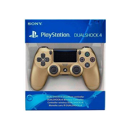 Controle Dualshock 4 1ª Linha - Dourado - PS4