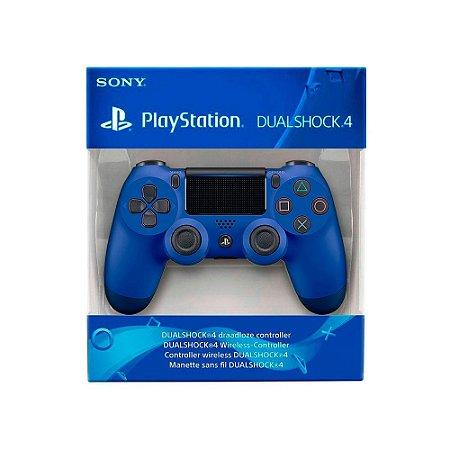 Controle Dualshock 4 1ª Linha - Azul - PS4