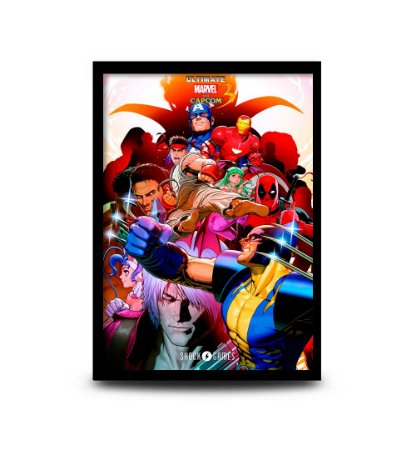Quadro Ultimate Marvel vs Capcom 3 - 32,5 x 43cm