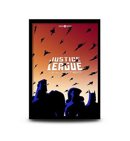 Quadro Justice League Unlimited - 32,5 x 43cm