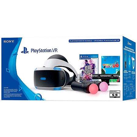 PlayStation VR Versão 2 Bundle: Blood & Truth + Everybody's Golf - PS4