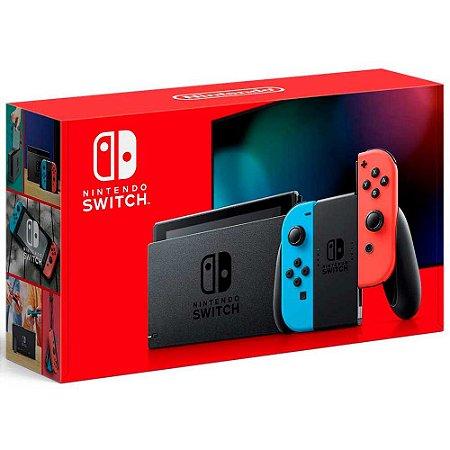 Nintendo Switch Neon Blue/Neon Red 32GB - Novo Modelo
