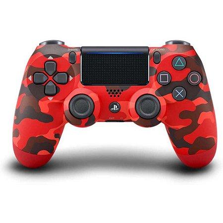 Controle Dualshock 4 - Vermelho Camuflado - PS4