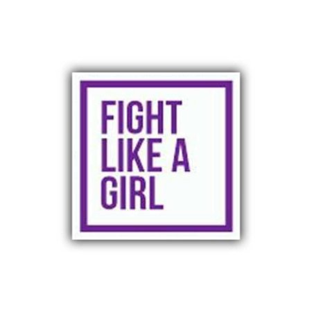 Placa Decorativa #29 Fight like a Girl