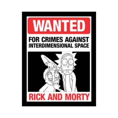 Placa Decorativa #21 Wanted Rick & Morty