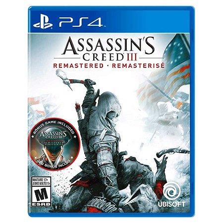 Assassin's Creed III Remastered (Usado) - PS4