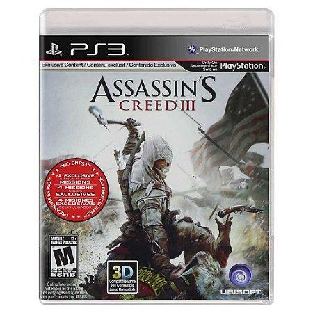 Assassin's Creed III (Usado) - PS3