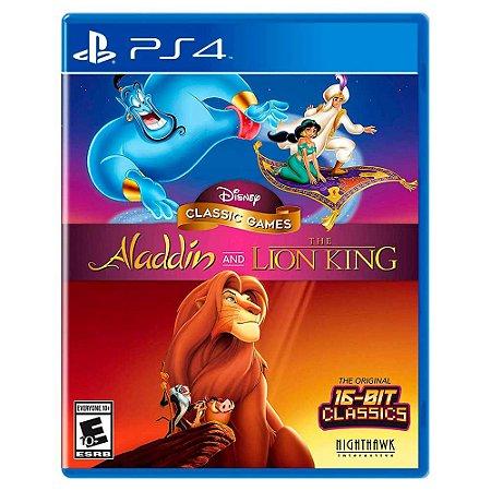 Disney Classic Games: Aladdin e O Rei Leão (Usado) - PS4