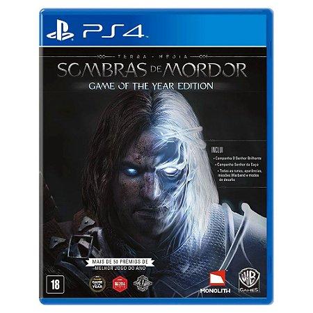 Terra Média: Sombras de Mordor - Edição Jogo do Ano  (Usado) - PS4