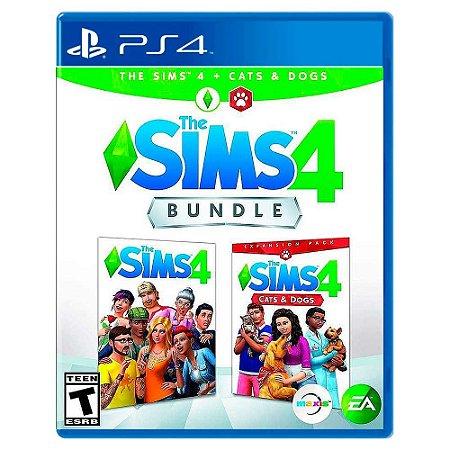 The Sims 4 + Gatos e Cães Bundle (Usado) - PS4