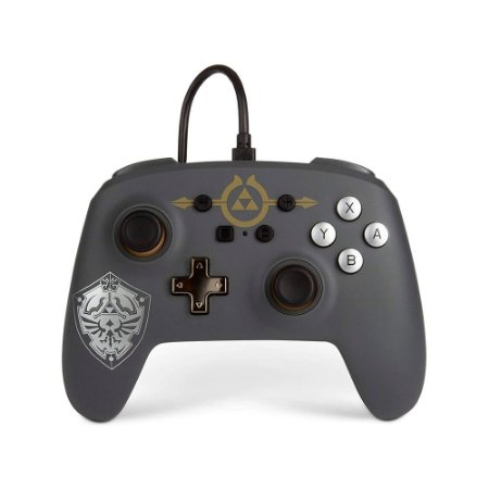 Controle PowerA Nintendo Switch Com Fio - Zelda Hylian Shield