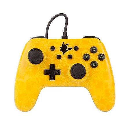 Controle PowerA Nintendo Switch Com Fio - Pikachu Silhouette