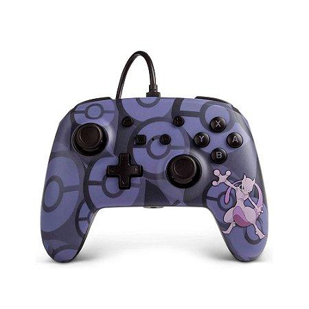 Controle PowerA Nintendo Switch Com Fio - Mewtwo
