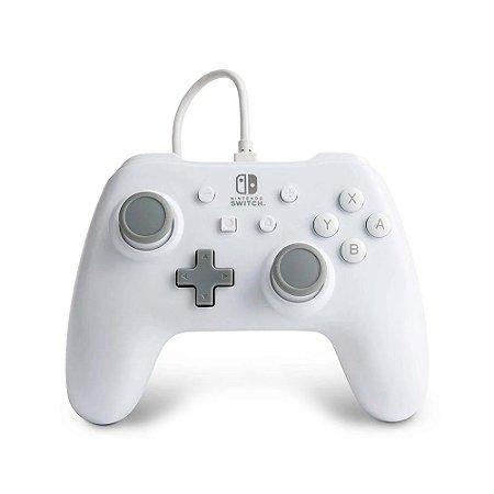 Controle PowerA Nintendo Switch Com Fio - Branco