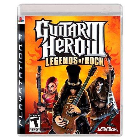 Guitar Hero III: Legends of Rock (Usado) - PS3