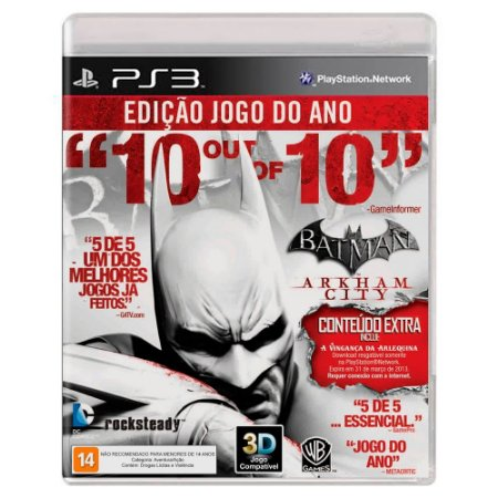 Batman: Arkham City - Game of the Year Edition (Usado) - PS3