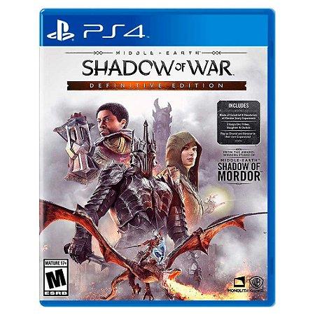 Terra Média: Sombras da Guerra Edição Definitiva (Usado) - PS4