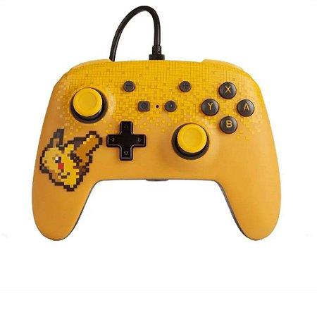 Controle PowerA Nintendo Switch Com Fio - Pixel Pikachu
