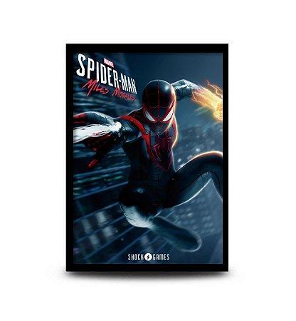 Quadro Marvel's Spider-Man Miles Morales - 32,5 x 43cm