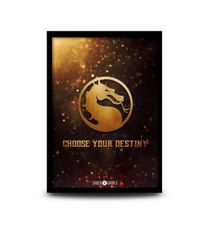 Quadro Mortal Kombat Choose your Destiny - 32,5 x 43cm