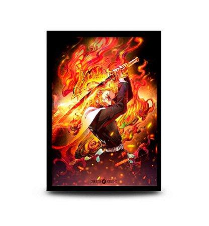 Quadro Demon Slayer - Rengoku - 32,5 x 43cm
