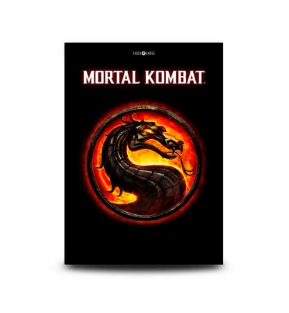 Quadro Mortal Kombat 9 Logo - 32,5 x 43cm