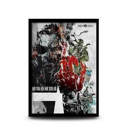 Quadro Metal Gear Solid - Snake / Big Boss - 32,5 x 43cm