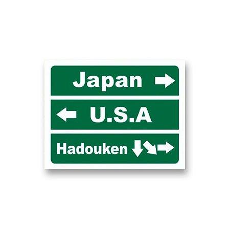 Placa Decorativa #44 Japan, USA, Hadouken