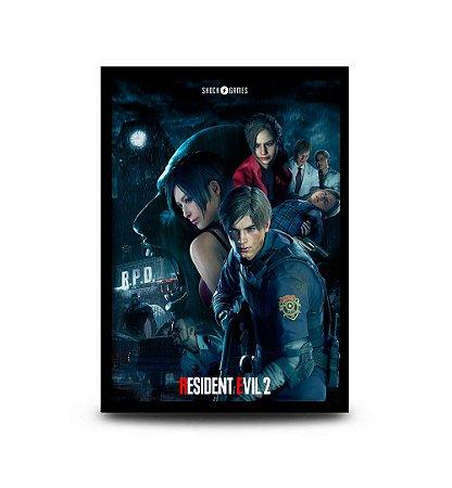 Quadro Resident Evil 2 - 32,5 x 43cm
