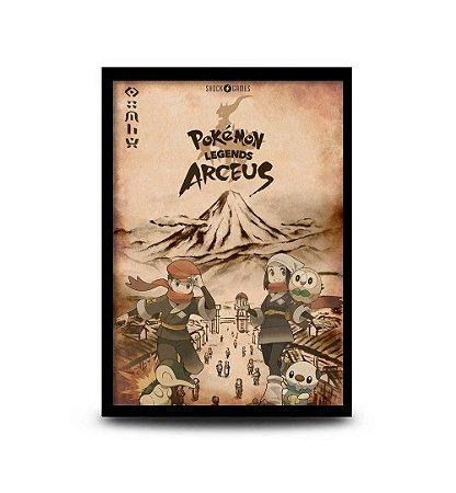 Quadro Pokémon Legends Arceus - 32,5 x 43cm