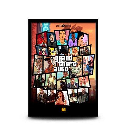 Quadro Grand Theft Auto - 32,5 x 43cm